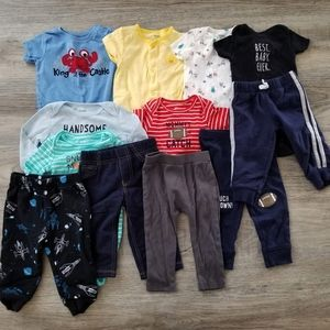 12 piece - baby boy summer/pant/long sleeve bundle